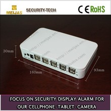 10 ports centralized alarm main host for security of phone/camara/tablet display