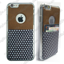 Luxury PU Leather Phone Back Cover Credit Card Holder Case for iPhone 6