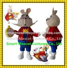 Good visual top sale alice in wonderland costume adult white rabbit mascot costume