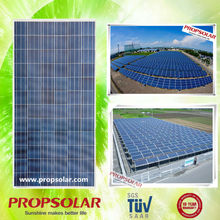 Propsolar crystaline solar panels with TUV, IEC,MCS,INMETRO certificaes (EU anti-dumping duty free)