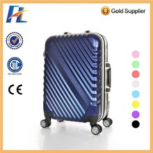 TSA Lock Metal Style Fashion Hot Sell PC Luggage/Carry On Luggage/Travel Luggage Bag