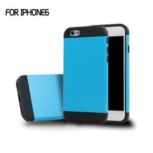 2015 hot selling Slim Colorful Armor phone case for iphone6,back cover case for iphone 6,for iphone 6 cover