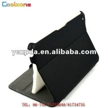 2012 bussiness style heat setting leather housing cover case for ipad mini