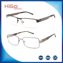 NEW TREND STAINLESS STEEL METAL EYEGLASSES HIGH QUALITY GLASSES MEN OPTICAL FRAME WOOD TEMPLE SPECTACLE EYEWEAR