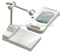 desktop LED magnifier,Illuminated magnifier,desktop magnifier with rectangular glass,