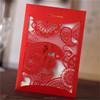 2015 newly custom 3d chinese wedding invitation card