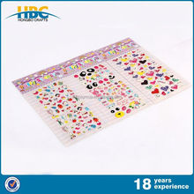 New Type High Quality Low Price Puffy Star Shaped Stickers