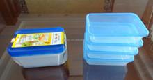 Cheap price 4 pcs set plastic rectangular food storage container