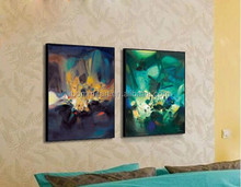 2 Pcs/Set Modern Abstract Oil Painting Office Wall Pictures Oil Painting On Canvas Wall Art Top Home Decoration