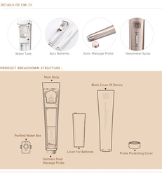 2015 design handheld rubber massager and design handy sonic pore cleaner