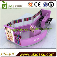 Made in China cheap used beauty salon furniture for manicure table, eyebrow threading kiosk, hair salon furniture