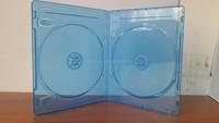 Elegant 11mm Transparent Double DVD Blu-ray Case