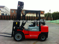 YTO 3T LPG/gas Nissan forklift truck CPYD30 with new price