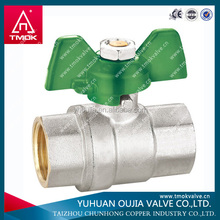 Brass ball valve with butterfly handle Europe style 1/2 inch water valve