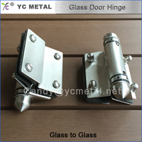 304 Stainless Steel Adjustable Soft Close Shower Door Hinges Glass To Glass