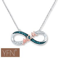 Rose Gold MOM Engraved Infinity Design Trendy Silver Necklace Hot Sale