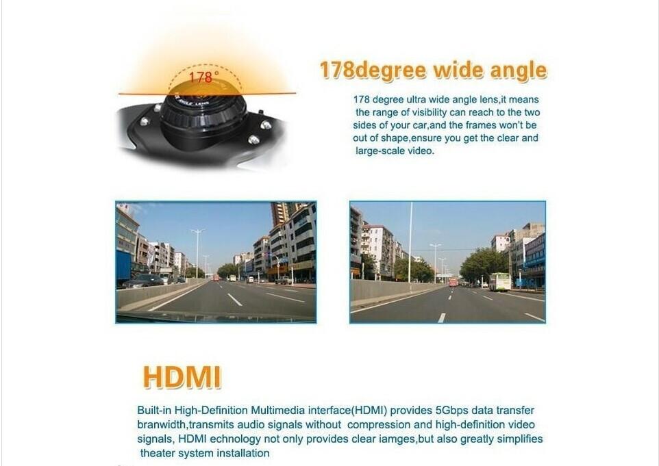 Автомобильный видеорегистратор OEM GS9000 Hd 1080 p 170