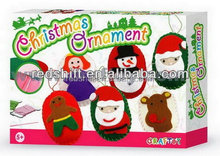 Make your Xmas ornament Sewing oval Christmas ornament kit