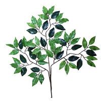 Cheap wholesale YSF0322 colorful mini articificial fabric / cloth ficus banyan tree leaves decor leaf