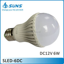 High brightness Low power consumption DC12V 6W E27 light bulb LED