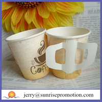 Disposable coffee custom 4oz paper cups with handle