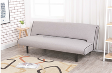 American style living room click clack Fabric folding sofa bed with four legs