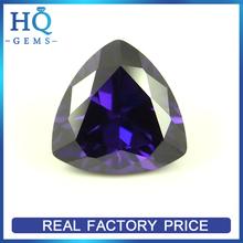 Synthetic CZ gems amethyst trillion cut imitation jewelry stone