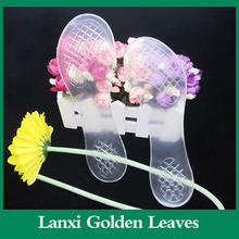 Transparent high heel 3/4 gel insole with arch support leather sole dance shoes men