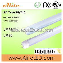High quality 4000k DLC led t8 lamps,frosted/striped len