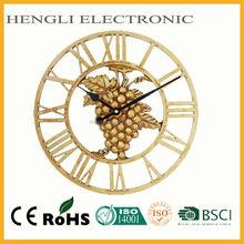 Plastic grape 15 inch wrought skeleton wall clock