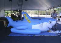 wholesale inflatable shark replica for water, inflatable animal replica on sale