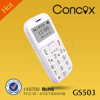 Quad band gps tracker senior cell phone with FM radio Concox GS503