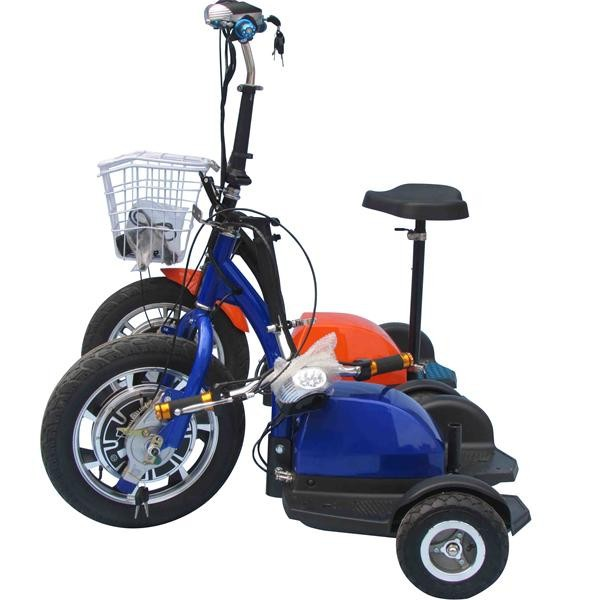 Three wheel electric tricycle mobility scooter electric for Mobility scooter motors electric