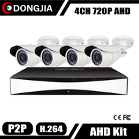 Dongjia HD CCTV Camera Set 4 Waterproof Video Surveillance 720P 960 Kit Camaras De Seguridad
