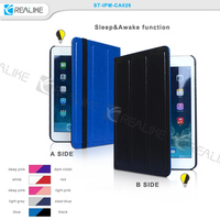 Tri folding contrast color stand case for ipad mini 2,hot new products 2015
