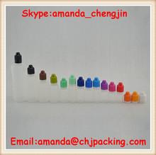 In Stock!!! 10ml 20ml 30ml 60ml 120ml PE eliquid plastic bottles with tamper ring