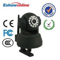 Black P2P Wireless WiFi PanTilt Speed Monitor CCTV Security Webcam dome ip camera