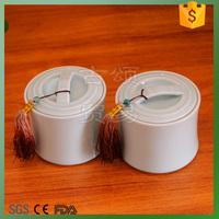 Celadon material tea jar small and 2pcs