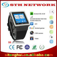 Original ZGPAX S6 smart phone watch GPS MTK6577 Dual Core Android Smart Watch Phone