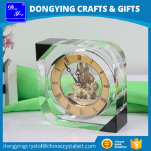 3D Laser Engraving Crystal Table Clock for Office Decoration DY-ZB8002