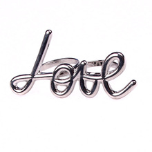 fashion new 2015 silver lover two finger ring jewelry