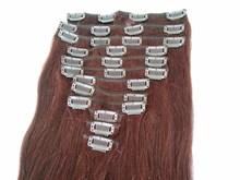 natural ombre black grey color clips in hair extension synthetic hair body wave 20'' guangzhou factory wholesale