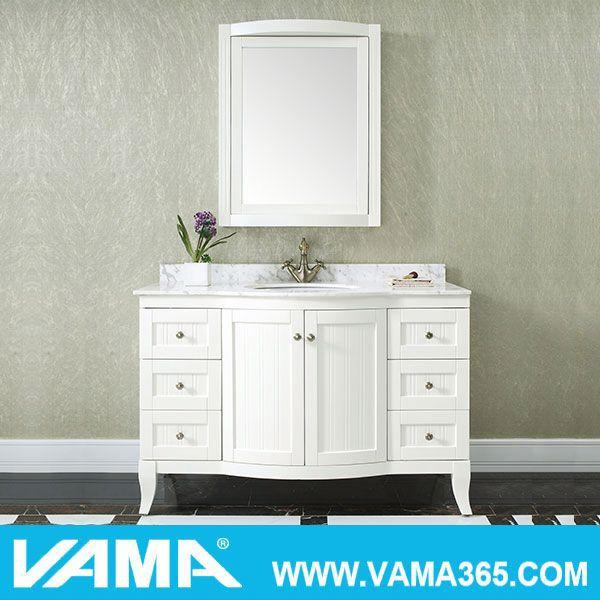 vama 48 wooden antique cheap mirror bathroom vanity cabinets
