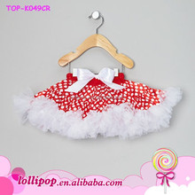 2015 New Design Fashion Baby Dress Beautiful dot with white chiffon Tutu Dress For Girls