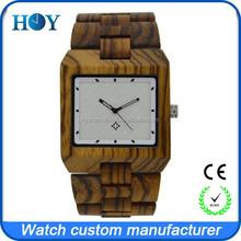 100% nature wood watch , wooden wrist men watch with 5atm waterproof