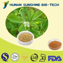 Fenugreek Seed P.E. / 5%-98%4-Hydroxyisoleucine by HPLC / 25%-50% Furostanol saponins by UV / 25% , 40%, 50% Saponins