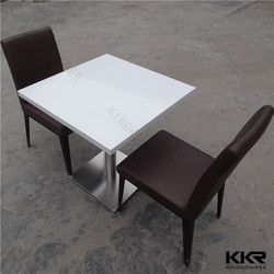 Factory price solid surface table / food court table / fast food table