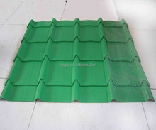 Easy install green glazed roof tiles galvanized steel corrugated roofing