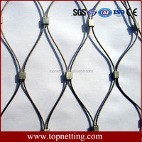 SS 304/316L Wire Rope Woven Mesh for Zoo Animals Cage