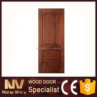 Interior modern single swing ventilated wood door design